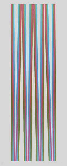Bridget Riley, 'Elongated Triangles 5' 1971