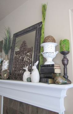 mantle--love the rabbits!