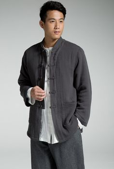 Chinese traditional men's blouse spring autumn by Sunflowercloth