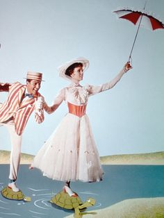 Julie Andrews and Dick Vandyke in 'Mary Poppins'