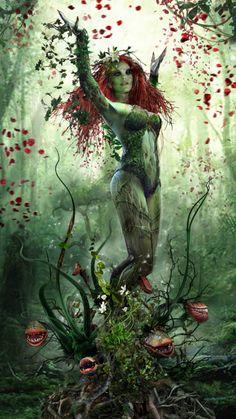 Imaginary Gotham - The art of Batman and his Universe. Dc Poison Ivy, Poison Ivy Dc Comics, Poison Ivy Cosplay, Poison Ivy Costumes, Poison Ivy Batman, Hq Marvel, Marvel Dc Comics, Catwoman, Comic Books Art