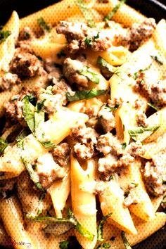 #foodtasia #italian #sausage #creamy #cheesy #basil #penne #and Creamy, Cheesy Italian Sausage and Basil Penne   FoodtasiaYou can find Sweet italian sausage and more on our website.Creamy, Cheesy Italian Sausage and Basil Penne   Foodtasia Italian Sausage Pasta, Sweet Italian Sausage, Food T, Penne, Camembert Cheese, Basil, Bread, Canning, Website