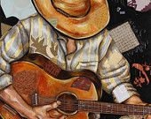 Cowboys and Instruments Series-Original Limited Edition Signed Art print on canvas, ready to hang