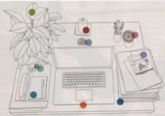 Feng shui your desk.According to the Chinese art of feng shui, the state of your environment mirrors your life. When you take control of your space, it creates positive energy for improving everything else. by Jayme Barrett Feng Shui At Work, Feng Shui Energy Map, Feng Shui Your Desk, Feng Shui Office, Casa Feng Shui, Feng Shui Tips, Consejos Feng Shui, Fen Shui, Free People Blog