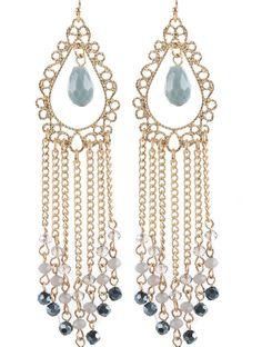 Gypsy Indigo Filigree Earrings