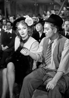 indypendent-thinking:  Jean Gabin and Marlene Dietrich