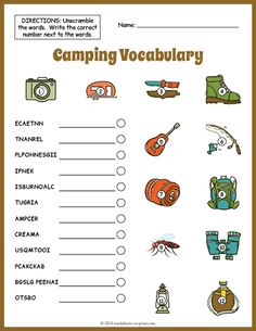Vocabulary Worksheets for Kids. 20 Vocabulary Worksheets for Kids. Sequencing Worksheets, Free Kindergarten Worksheets, Vocabulary Worksheets, Free Printable Worksheets, Worksheets For Kids, Free Printables, Scramble Words, Place Value Worksheets, Math Literacy