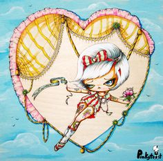 circus; platinum sweet tooth pinup/Tied Up in Love: pinkytoast.jpg