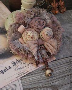 """Купить Брошь """" Пыльные розы"""" - бохо, брошь в стиле бохо, бохо-стиль"""