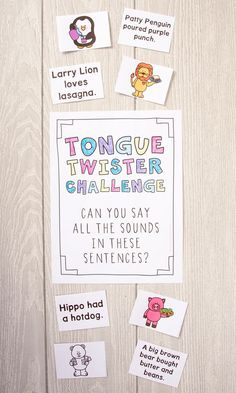 Have you ever used tongue twisters in speech therapy? These flashcards in both color and black & white are the perfect thing to jazz up therapy. You have to be careful about client selection (and not choose a client who has severe articulation deficits and could feel defeated if they can't say a tongue twister), but these are perfect for kids to have fun with in speech therapy.