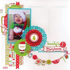 Santa Express Collection Launch & Giveaway - lovely layout to launch this fun & fabulous new collection from Doodlebug Design