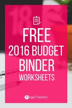 Want to save more money? In order to make wise financial decisions to increase your savings account you need to be organized and use a budget. Download this free 2016 Budget Binder to help you save more money this year. Click to get the worksheets now...