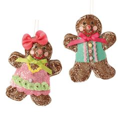 RAZ Chocolate Moose 6.5 inch Gingerbread Ornament  shelley b home and holiday
