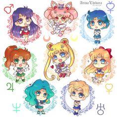 Sailor Moon Sticker and Charms (SHOP UPDATE) by arisa-chibara.deviantart.com on @DeviantArt