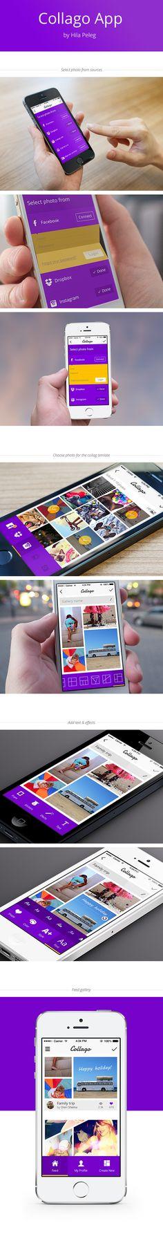 Collage app by hila peleg, via Behance