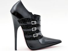 Vitello nero  black genuine calfskin and black genuine suede