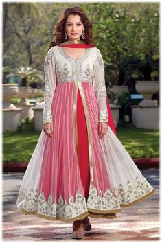 Diya Mirza Long Anarkali Churidar Suit