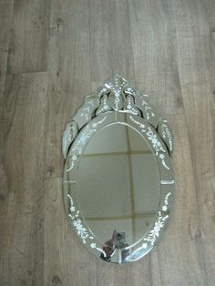 Victorian Art Deco inspired wall mirror vanity mirror TALL X WIDE Painted Picture Frames, Picture Frame Art, Gold Framed Mirror, Wall Mirror, Metal Chandelier, Vintage Chandelier, Wooden Swing Frame, Mirror Vanity, Square Photos