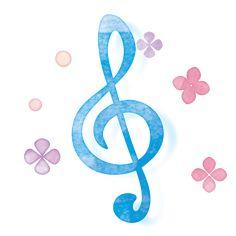ト音記号とあじさいイラスト Music Logo, Music Wallpaper, Treble Clef, Music Notes, Birthday Greetings, Happy New Year, Piano, Symbols, Letters