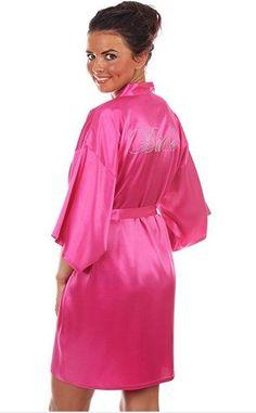 Satin Faux Silk Wedding Bride Bridesmaid Robes 81d907f51