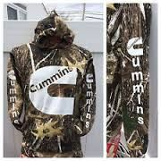 camo cummins sweatshirt:):) I don't like the sleeves.. Kind of too much. Only one sleeve needs it.. But still cute :):)