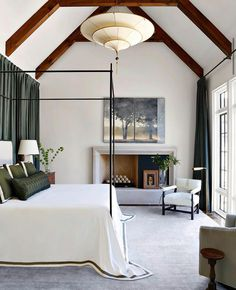 Best Interior, Home Interior, Interior Design, Interior Colors, Serene Bedroom, Modern Bedroom, Master Bedrooms, Iron Canopy Bed, Canopy Beds