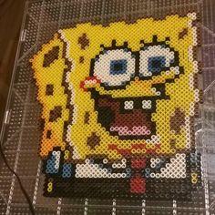 SpongeBob perler beads by cathartic_scribbles