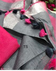 Sarees Attractive Linen Saree  *Fabric* Saree - Linen, Blouse - Linen  *Size* Saree Length With Running Blouse - 6.3 Mtr  *Work* Handloom Work  *Sizes Available* Free Size *   Catalog Rating: ★4 (1260)  Catalog Name: Aaryahi Solid Linen Sarees with Tassels and Latkans CatalogID_128130 C74-SC1004 Code: 357-1051823-