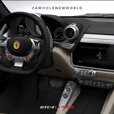 The @Ferrari #GTC4Lusso cabin is a flawless triumph of sporty luxury. Are you…