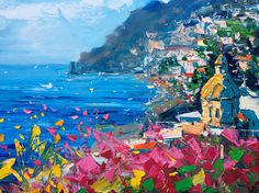 Positano Italy Oil Painting Impressionist Paintings Abstract