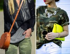 Camo print jeans + t-shirt // Hello Fashion + Sincerely Jules