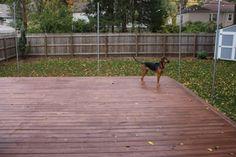 Deck stain in teak @ fairwayhound.com