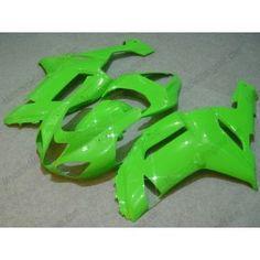 Kawasaki NINJA ZX6R 2007-2008 Injection ABS Fairing - Factory Style - All Green | $659.00
