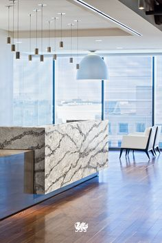 Exclusively ours, the veining movement and variations within our Coastal Collection™ complement any office space. Consider Seagrove™ for your next renovation.