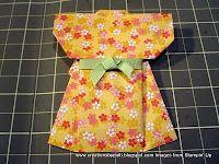 Origami kimono tutorial