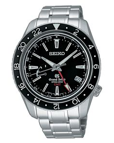 Grand Seiko, Spring Drive GMT Watch, with 30 jewels and blue steel accent, SBGE001  www.SeikoUSA.com