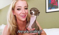 When my friend asks to take a selfie with me // Jenna Marbles <3 // her dog straight up lookin like snoop dogg