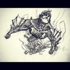"""""""Black Bolt GOD/KING by Eric Canete """". (Warm up sketch before work.) #thor #blackbolt #inhumans #marvel #marvelcomics"""