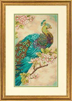 Indian Peacock - Cross Stitch Kit