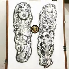 Money Tattoo, 4 Tattoo, Body Art Tattoos, Inca Tattoo, Tattoo Design Drawings, Tattoo Sleeve Designs, Tattoo Sketches, Chicano Style Tattoo, Chicano Art