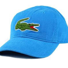 0c96ea6bb54 LACOSTE MENS BIG CROC GABARDINE CAP color  Plane – JaneMarketplace