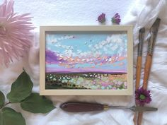 Spring collection of oil landscape paintings from Canadian artist Carly Gordon. #art #artist #painting #oilpainting #wallart #homedecor #landscape Anime Background, Canadian Artists, Girly Art, Art Inspo, Oil Painting Landscape, Painting, Oil Painting, Cloud Painting, Art