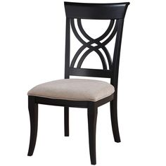 Antique Black Upholstered Seat Side Chair (Set of 2) - Overstock™ Shopping - Great Deals on Dining Chairs