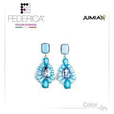 Earrings ALMA 2  Drop pendant earrings with stones. Turquoise/sky blue. 1,500.00 Ksh http://www.federicafashion.com/ep106/earrings-alma-2/ http://www.jumia.co.ke/federica-fashion/