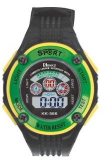 LED Digital Watch with Calendar, 30m Water Resistance Green for Womens Item No. : 55549  Price : $4.99  Category : Sport Watches
