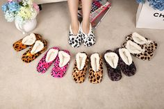 free shipping Home Soft Plush Leopard Slippers Coral Fleece Indoor Home Shoes,Floor Socks , Indoor Slippers Winter Foot Warmer   Price: US $5.87   http://www.bestali.com/goto/32228816377/10