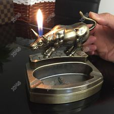 Bull Shape Novelty Cigarette cigar Ashtray Ash Tray with lighter