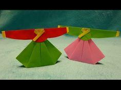 한복 종이접기,Origami Traditional Korean Dress - YouTube