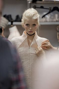 Chanel haute couture spring/summer 2011   fitting #chanel