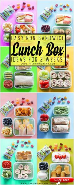 2 Whole weeks of Non-Sandwich Easy to make Super fun Healthy Lunch Box ide 2019 2 Whole weeks of Non-Sandwich Easy to make Super fun Healthy Lunch Box ideas for kids. Forget boring sandwiches your kids will love eating these lunches at school and I promise they are all super easy to make! The post 2 Whole weeks of Non-Sandwich Easy to make Super fun Healthy Lunch Box ide 2019 appeared first on Lunch Diy.